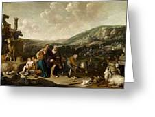 Landscape With Jacob And Rachel Greeting Card