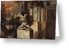 Landscape With Ruins Greeting Card