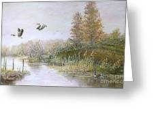 Landscape With Wild Life Greeting Card