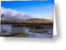 Langjokull  Glacier Greeting Card
