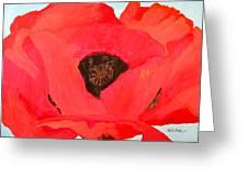 Large Poppy Greeting Card