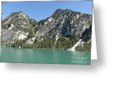 Largo Di Braies, Dolomites, Italy Greeting Card