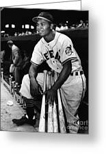 Larry Doby (1923-2003) Greeting Card by Granger