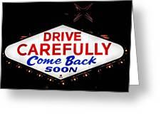 Las Vegas Sign At Night Greeting Card