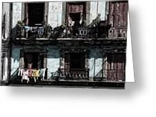 Laundry Day In Havana Greeting Card