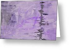 Lavender Gray Abstract Greeting Card