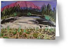 Lavender Mountain Greeting Card by Marie Bulger
