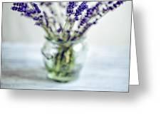 Lavender Still Life Greeting Card by Nailia Schwarz