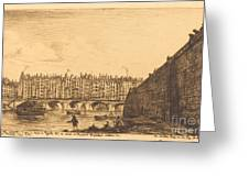 Le Pont-au-change, Paris, Vers 1784 Greeting Card