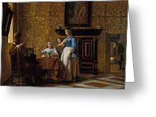 Leisure Time In An Elegant Setting Greeting Card
