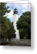 Lighthouse - Key West Greeting Card