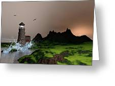 Lighthouse Landscape By John Junek Fine Art Prints And Posters Greeting Card