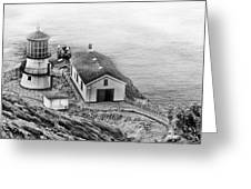 Lighthouse On The Point Greeting Card