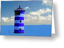 Lighthouse On The Sea Greeting Card