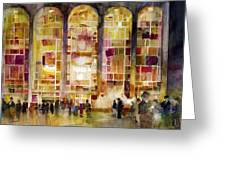 Lincoln Center Greeting Card by Dorrie Rifkin