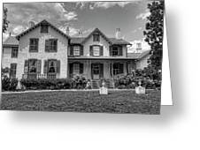 Lincoln Cottage In Black And White Greeting Card