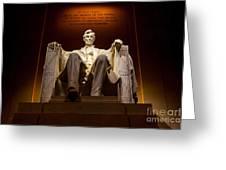 Lincoln Memorial At Night - Washington D.c. Greeting Card