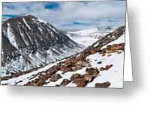 Lincoln Peak Winter Landscape Greeting Card