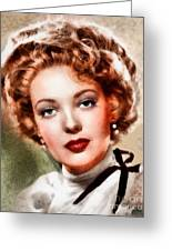 Linda Darnell, Vintage Hollywood Actress Greeting Card