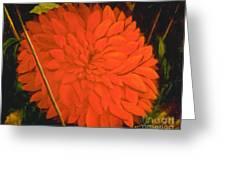 Linda's Red Dahlia Greeting Card
