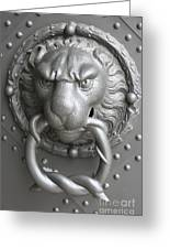 Lion And Snake Greeting Card