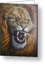Lion Roar Greeting Card