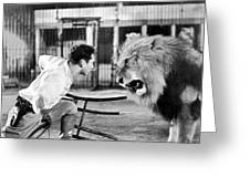 Lion Tamer, 1930s Greeting Card