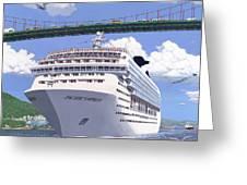 Lions Gate Bon Voyage Greeting Card by Neil Woodward