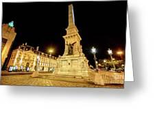 Lisbon By Night Greeting Card