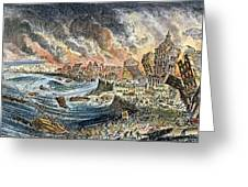 Lisbon Earthquake, 1755 Greeting Card