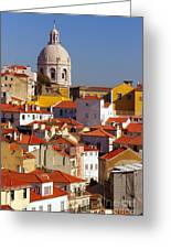 Lisbon View Greeting Card by Carlos Caetano