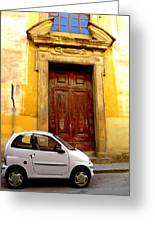 Little Car Of Florence Greeting Card