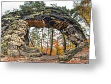 Little Pravcice Gate - Famous Natural Sandstone Arch Greeting Card