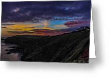 Lizard Point At Sunset  Greeting Card