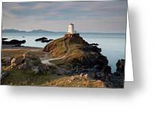 Twr Mawr Lighthouse On Llanddwyn Island Greeting Card