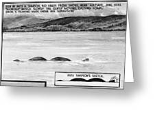 Loch Ness Monster, 1934 Greeting Card