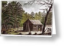 Log Cabin, 1826 Greeting Card