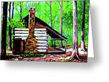 Log Cabin V Greeting Card