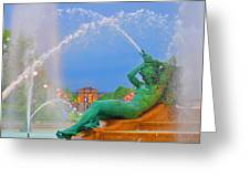 Logan Circle Fountain 1 Greeting Card by Bill Cannon