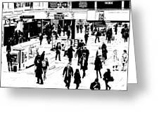London Commuter Art Greeting Card