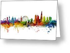 London England Skyline Panoramic Greeting Card
