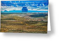 Lone Rock In Lake Powell Utah Greeting Card