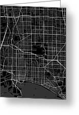 Long Beach California Usa Dark Map Greeting Card