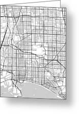 Long Beach California Usa Light Map Greeting Card