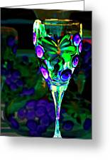 Long Stemmed Glass Greeting Card