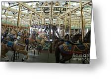 Looff Carousel Santa Cruz Boardwalk Greeting Card