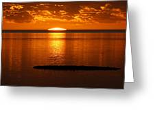 Looking For The Green Flash Greeting Card