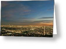 Los Angeles City Of Angels Greeting Card