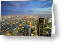 Los Angeles Downtown Nightscape Greeting Card