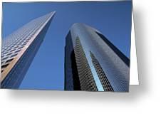 Los Angeles Skyscrapers Greeting Card
